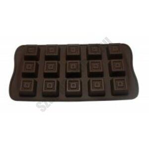Szilikon forma - csoki díszdobozban - kocka