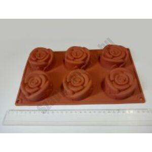 Szilikon forma - 6 rózsa