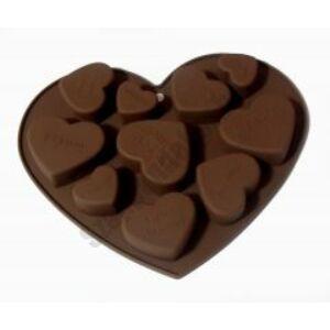 Szilikon forma - 10 szív