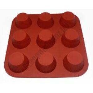 Szilikon forma - 9 bordás muffin