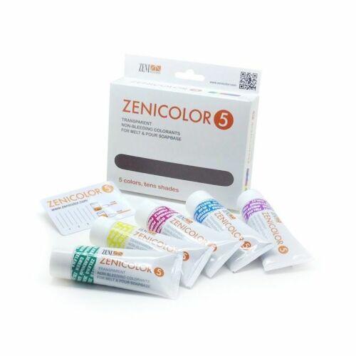 Zenicolor 5 db-os szappanszínező csomag