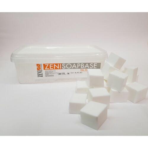 Zeni márványos SLS-mentes szappanalap (fehér) 1 kg